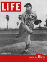Life Magazine, April 1, 1946 - St. Louis Cardinal pitcher, baseball
