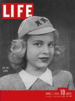 Life Magazine, April 2, 1945 - Sub-debutante in hat
