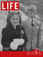 Life Magazine, April 7, 1947 - Two children ready for Sunday school