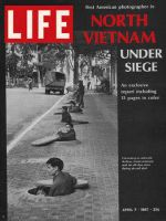Life Magazine, April 7, 1967 - Hanoi air-raid alert