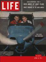 Life Magazine, April 8, 1957 - Blue Bird's flight, airplane