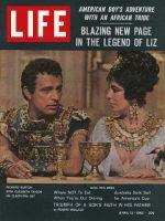 Life Magazine, April 13, 1962 - Richard Burton and Elizabeth Taylor, baseball cards