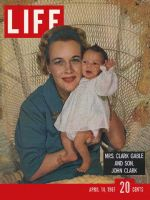 Life Magazine, April 14, 1961 - Gable's widow and son
