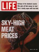 Life Magazine, April 14, 1972 - Broiling steak