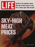 Life Magazine, April 14, 1972 - Broiling steak