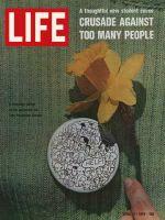 Life Magazine, April 17, 1970 - Zero population growth campaign button