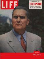 Life Magazine, April 21, 1952 - Tito's story
