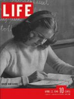 Life Magazine, April 22, 1946 - high school student