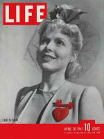 Life Magazine, April 28, 1941 - Red in fashion