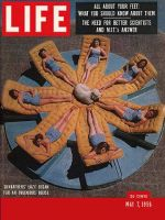 Life Magazine, May 7, 1956 - Dream house, women in lounges