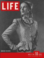 Life Magazine, May 8, 1944 - Hattie Carnegie suit in fashion