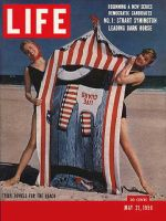Life Magazine, May 21, 1956 - Tricky beach towels