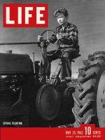 Life Magazine, May 25, 1942 - Boy on tractor