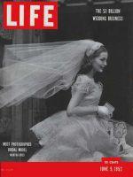 Life Magazine, June 9, 1952 - Woman in Wedding dress