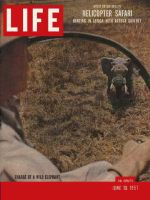 Life Magazine, June 10, 1957 - Helicopter safari