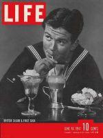 Life Magazine, June 16, 1941 - British Seaman drinking Soda