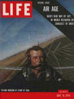 Life Magazine, June 18, 1956 - Air age, pilot in plane