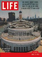 Life Magazine, June 27, 1955 - Peak tourism, cruise ship