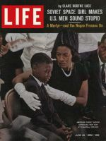 Life Magazine, June 28, 1963 - Medgar Evers's widow and son