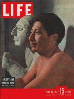 Life Magazine, June 30, 1947 - Ancient and modern Mayan sculpture