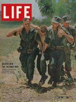 Life Magazine, July 2, 1965 - Wounded marine evacuated in Vietnam