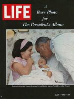 Life Magazine, July 7, 1967 - President Johnson, daughter Luci, and grandson Patrick