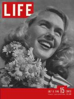 Life Magazine, July 8, 1946 - Woman with daisies