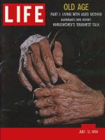 Life Magazine, July 13, 1959 - Series on aging