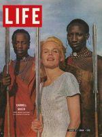 Life Magazine, July 17, 1964 - Actress Carroll Baker with Masai Warriors