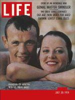 Life Magazine, July 20, 1959 - Johansson and friend