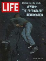 Life Magazine, July 28, 1967 - Newark riots, bleeding boy