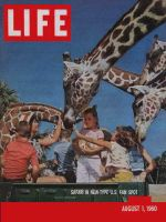 Life Magazine, August 1, 1960 - Theme parks, giraffe