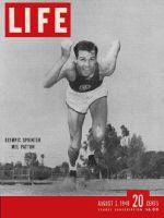 Life Magazine, August 2, 1948 - Sprinter Mel Patton