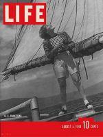 Life Magazine, August 5, 1940 - Woman on sailboat