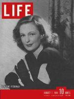 Life Magazine, August 7, 1944 - Geraldine Fitzgerald