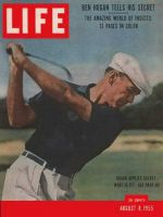 Life Magazine, August 8, 1955 - Ben Hogan, golf