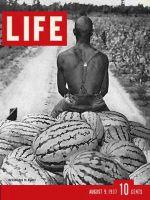 Life Magazine, August 9, 1937 - Black Man on Watermelon Cart