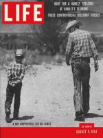 Life Magazine, August 9, 1954 - Cowboy and son