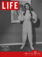 Life Magazine, August 12, 1946 - Loretta Young