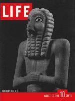 Life Magazine, August 15, 1938 - Sumerian sculpture