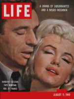 Life Magazine, August 15, 1960 - Yves Montand and Marilyn Monroe