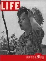 Life Magazine, August 16, 1948 - Boy in straw hat