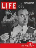 Life Magazine, August 18, 1947 - Lord Louis Mountbatten