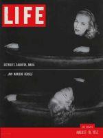 Life Magazine, August 18, 1952 - Marlene Dietrich and daughter