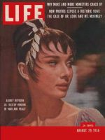 Life Magazine, August 20, 1956 - Audrey Hepburn