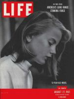 Life Magazine, August 27, 1951 - 13-year-old model