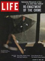 Life Magazine, August 31, 1962 - Restaged robbery