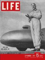 Life Magazine, September 1, 1947 - Race driver John Cobb