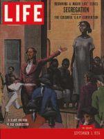 Life Magazine, September 3, 1956 - Segregation's history, slave auction