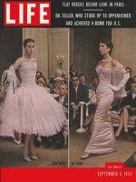 Life Magazine, September 6, 1954 - Paris collections, fashion